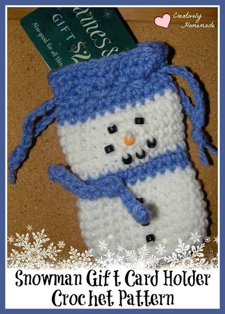 Snowman Crochet Gift Card Holder