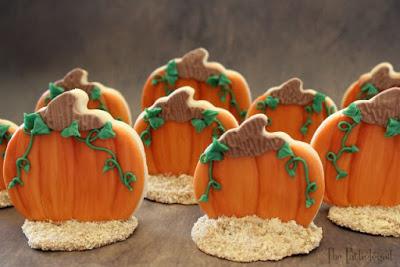 3D Pumpkin Patch Cookies