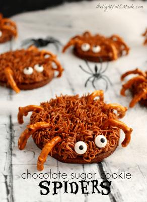 Chocolate Sugar Cookie Spiders