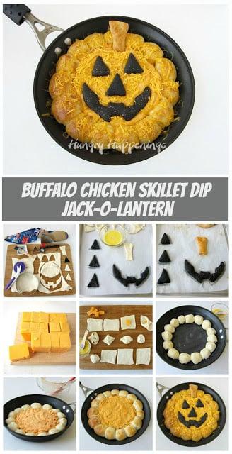 Jack-O-Latern Buffalo Chicken Dip
