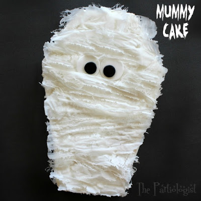 Mummy Cake with Edible Gauze