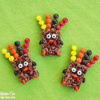 Easy Thanksgiving Rice Krispie Turkey Treats