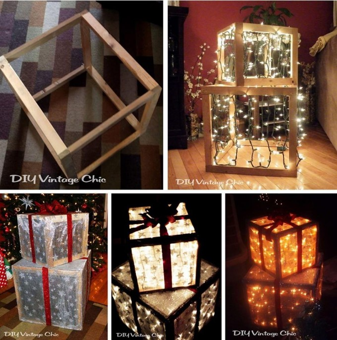 DIY Lighted Christmas Presents