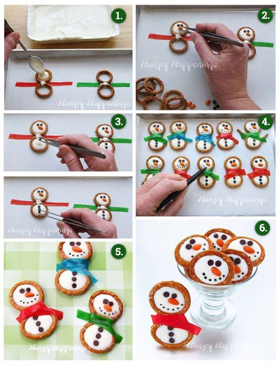 Snowman Winter Pretzel Treats for Christmas!