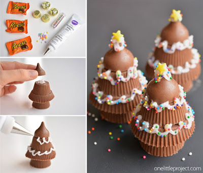 Reese's Peanut Butter Cup Christmas Trees