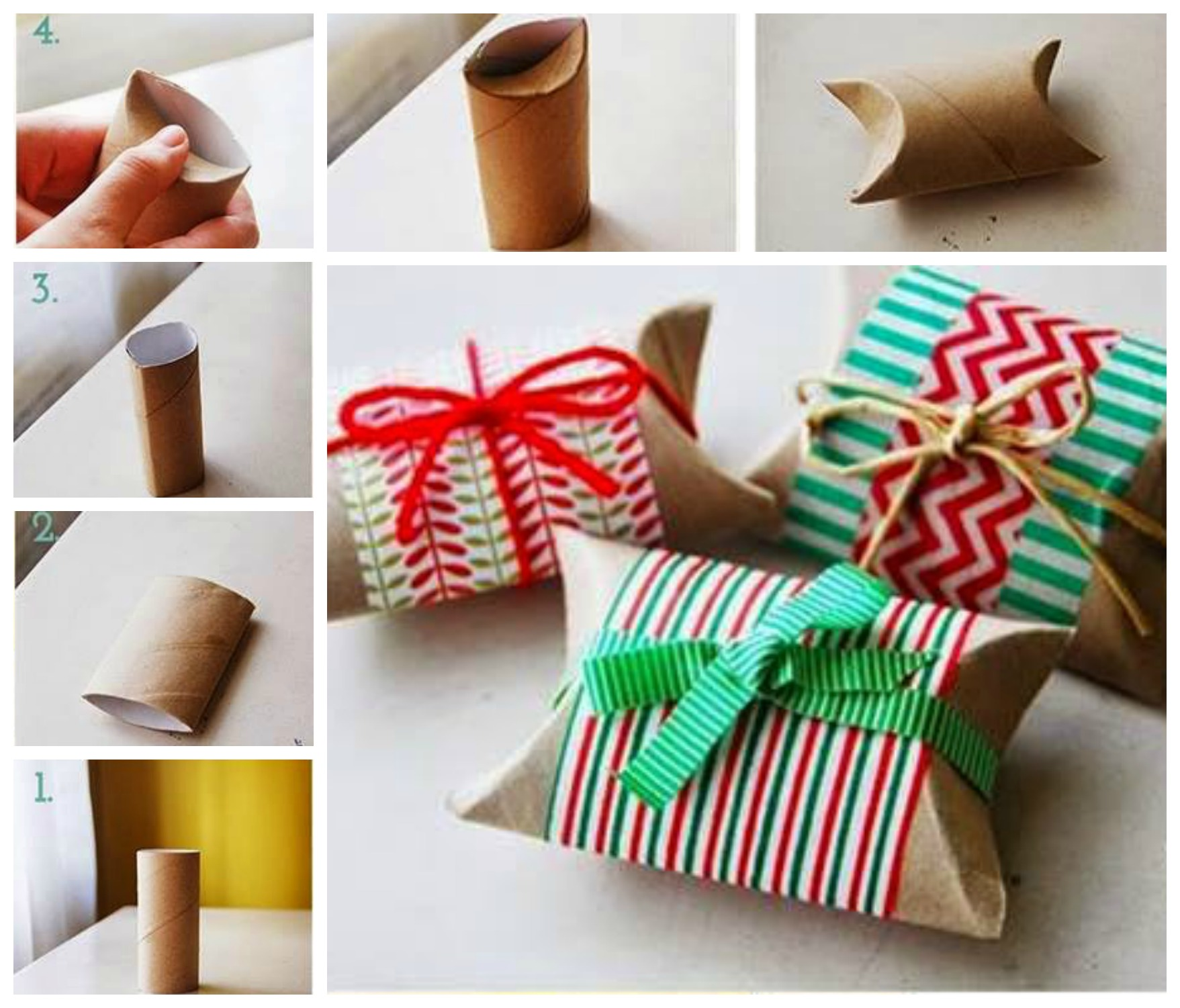 Fun finds friday including christmas fun food craft ideas diy toilet paper roll gift wrapping for christmas jeuxipadfo Images