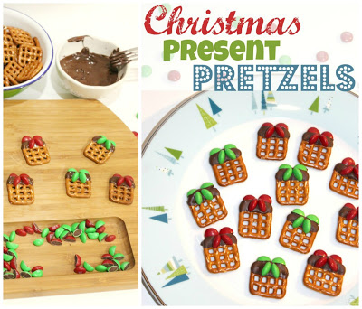 Chocolate Pretzel Presents for Christmas!