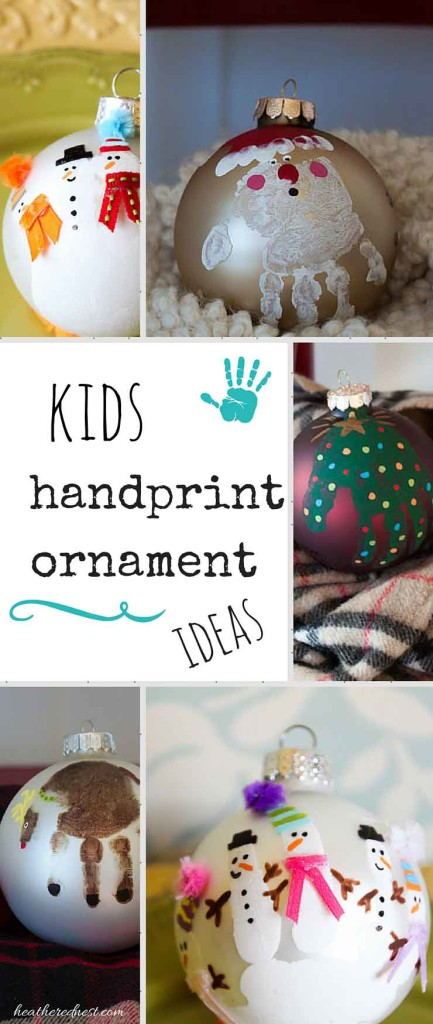 DIY Christmas Handprint Ornaments