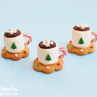 Christmas Treats - Hot Cocoa Marshmallow Cookie Cups