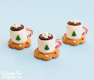 Christmas Treats – Hot Cocoa Marshmallow Cookie Cups