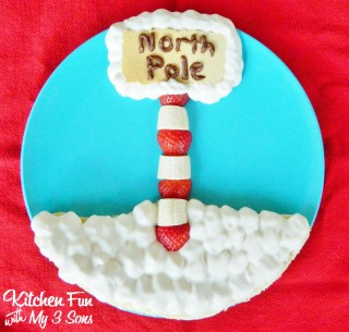Christmas North Pole Pancakes for Breakfast from KitchenFunWithMy3Sons.com