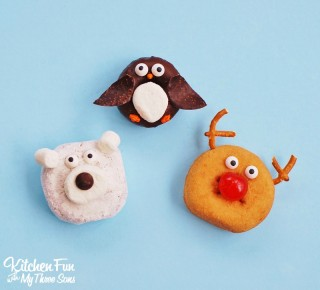 Easy Christmas Treats – Reindeer, Penguin, & Polar Bear Donuts!