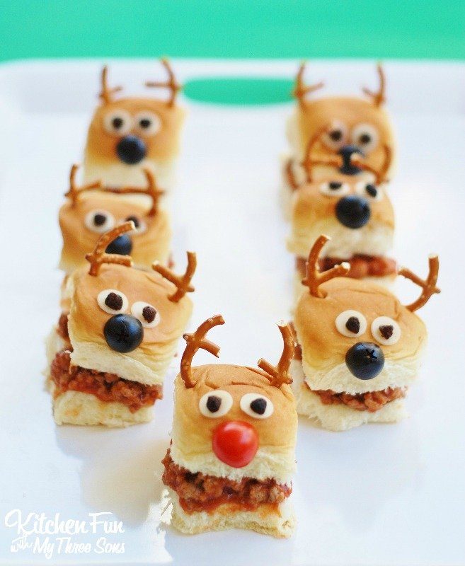 Christmas Reindeer Sloppy Joe Sliders