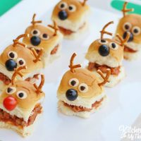 Christmas Party Idea - Reindeer Sloppy Joe Sliders with King's Hawaiian Bread