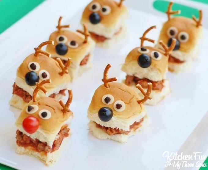 Christmas Reindeer Sloppy Joe Sliders