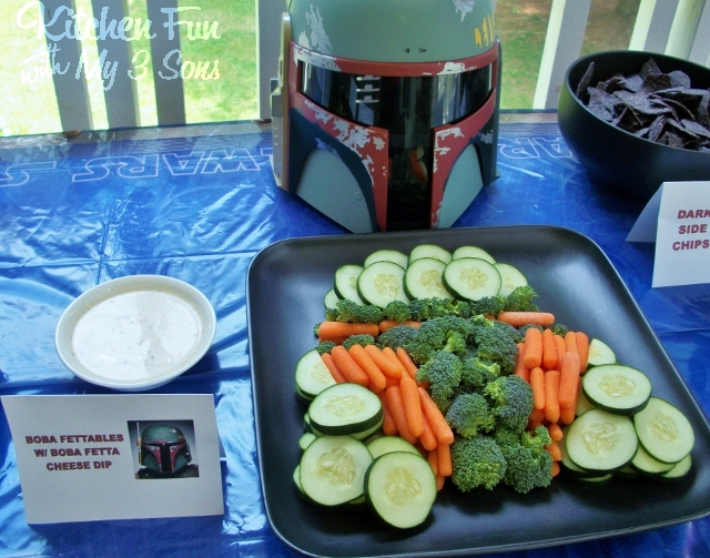 Star Wars Boba Fett Vegetables with Boba Fetta Cheese Dip