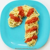 Christmas Dinner Idea - Candy Cane Spaghetti