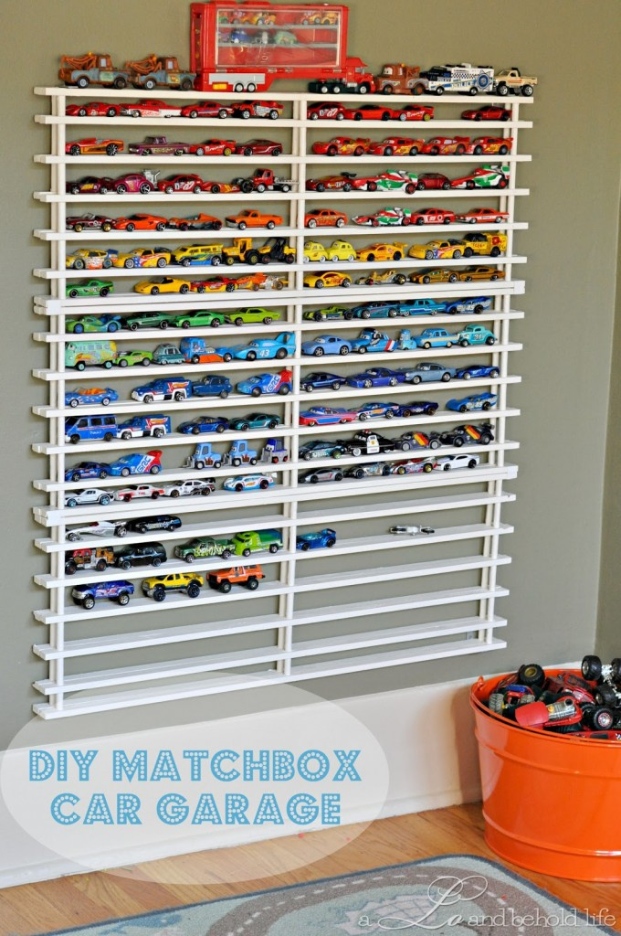DIY Hot Wheels Garage Storage