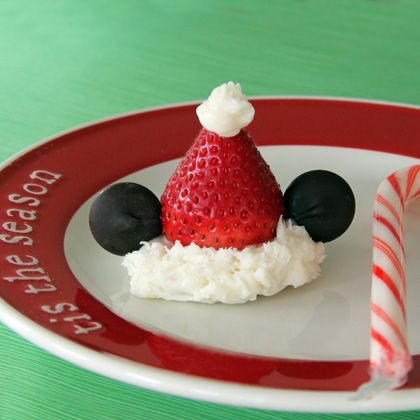 Mickey Mouse Christmas Santa Strawberry Hat