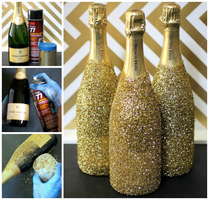 New Year's Eve Sparkly Bottles