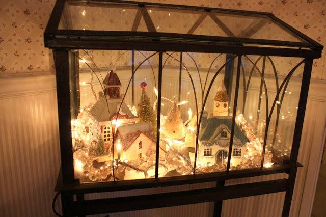 Christmas Village Terrarium