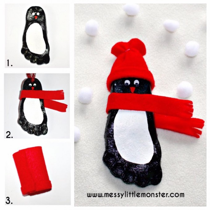 Salt Dough Penguin Keepsake