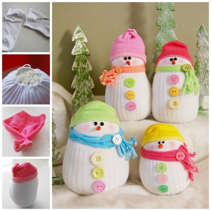 DIY Sock Snowmen