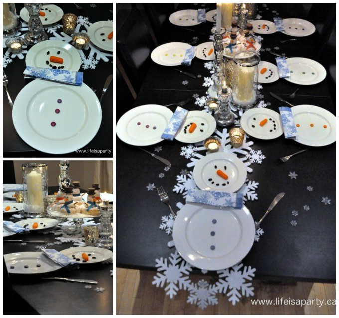 Snowman Table Place Setting for Christmas!