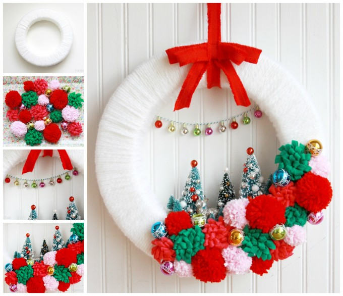 Retro Winter Wonderland Wreath