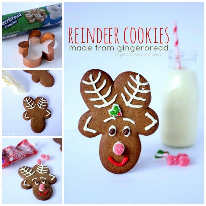 Reindeer Gingerbread Cookies for Christmas!