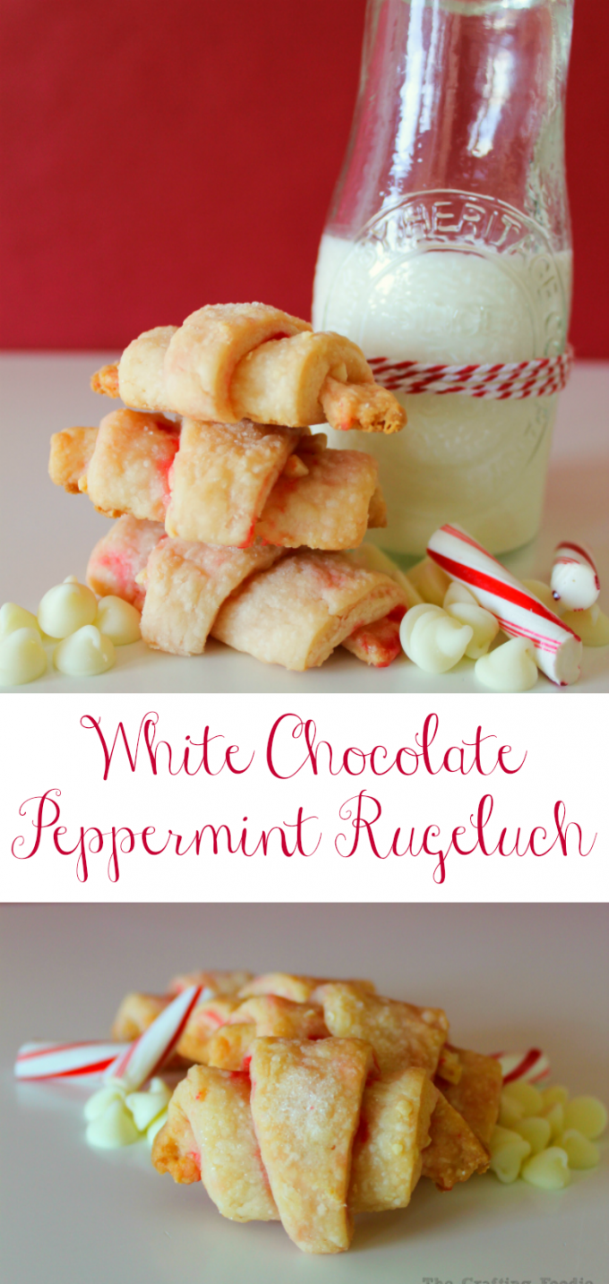 Peppermint White Chocolate Rugelach