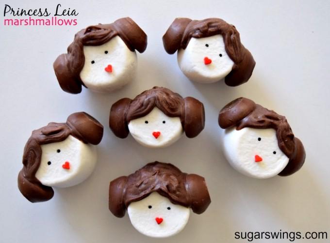 Princess Leia Marshmallow Treats