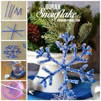 Borax Snowflake Ornaments for Christmas