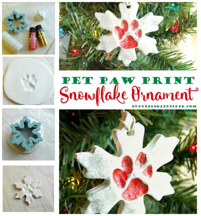 DIY Pet Paw Snowflake Ornament for Christmas