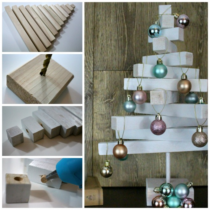 DIY Wooden Dowel Christmas Tree