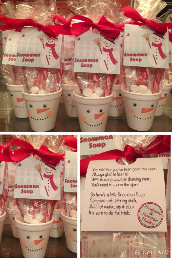 Snowman Soup ...what a cute Christmas gift for the kids (great Christmas class party idea)! I'm told that you've been good this year. Always glad to hear it! With freezing weather drawing near, You'll need to warm the spirit. So here's a little Snowman Soup. Complete with stirring stick. Add hot water, sip is slow. It's sure to do the trick!