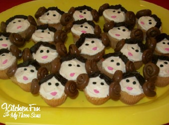 Star Wars Little Princess Leia Cupcakes