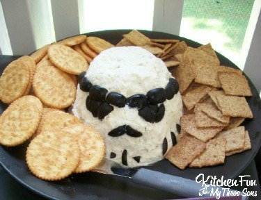 Star Wars Storm Trooper Cheese Ball Appetizer