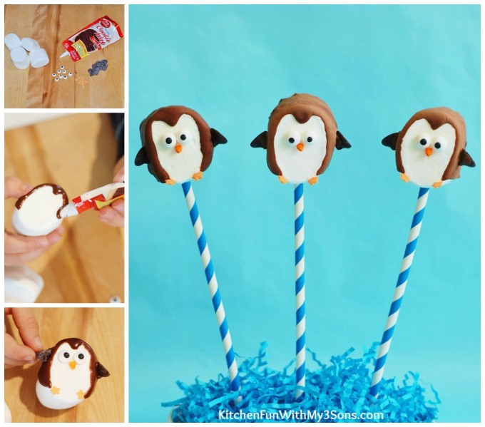 Easy Marshmallow Penguin Pops
