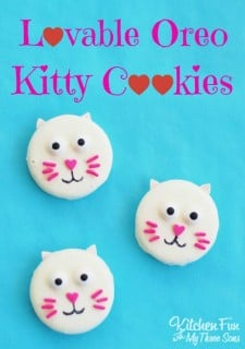 Easy Valentine Treats – Lovable Oreo Kitty Cat Cookies