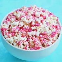 Valentine's Day Snack - White Chocolate Popcorn - Free Printable