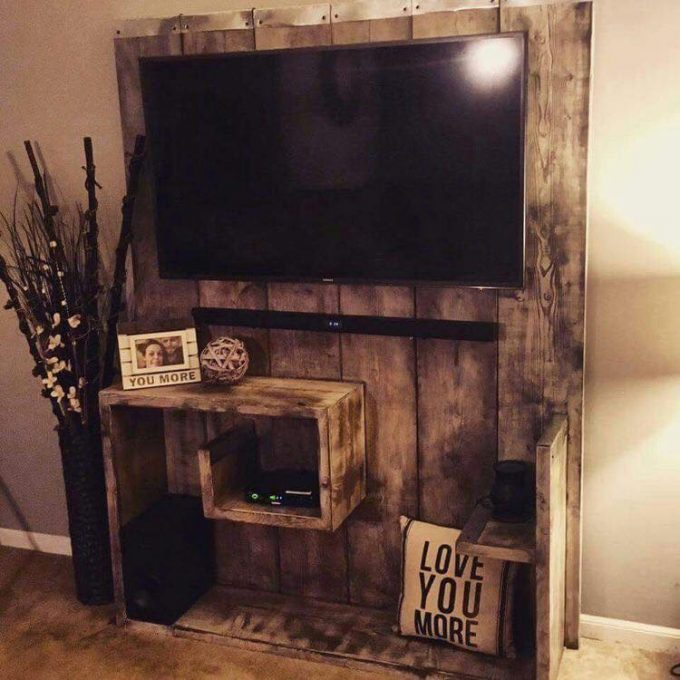 DIY Pallet Entertainment Center...these are the BEST Pallet Ideas!