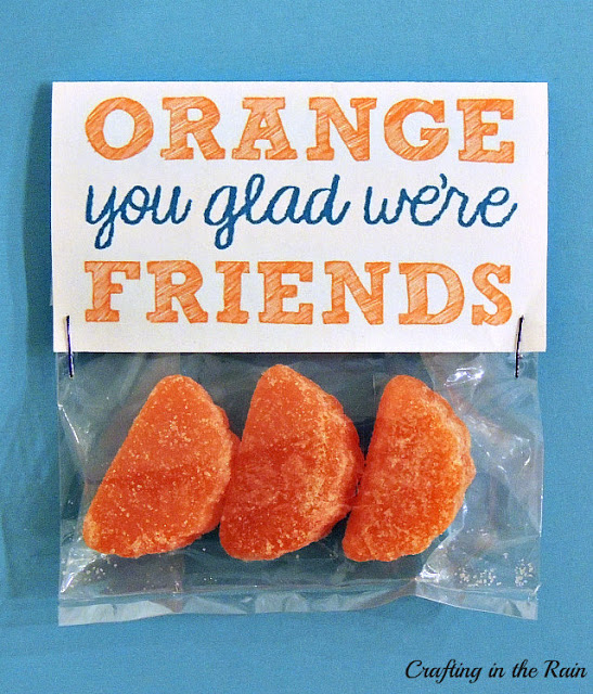 Orange You Glad We're Friends Valentine