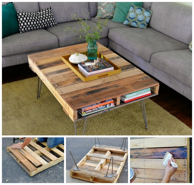diy pallet coffee table - Wood Pallet Projects
