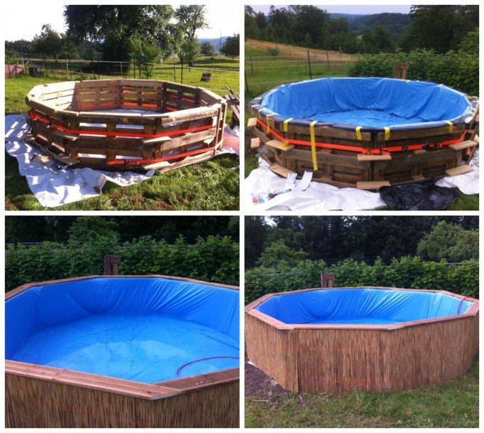 DIY 10 Pallet Swimming Pool