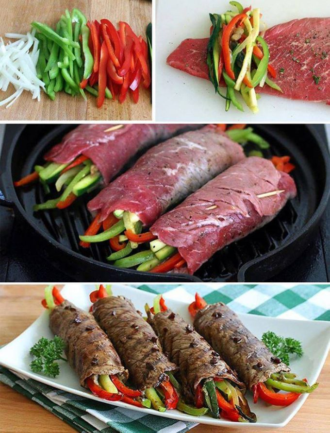 Balsamic-Glazed Steak Rolls Recipe