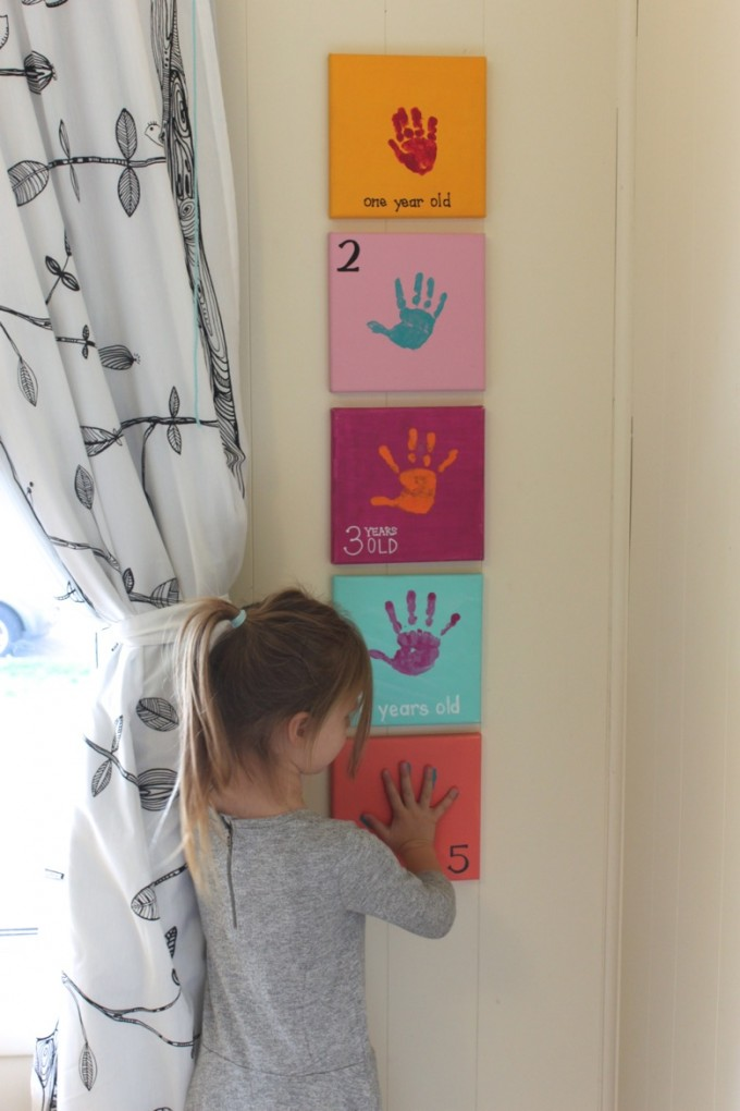 Yearly Handprint Canvas Art