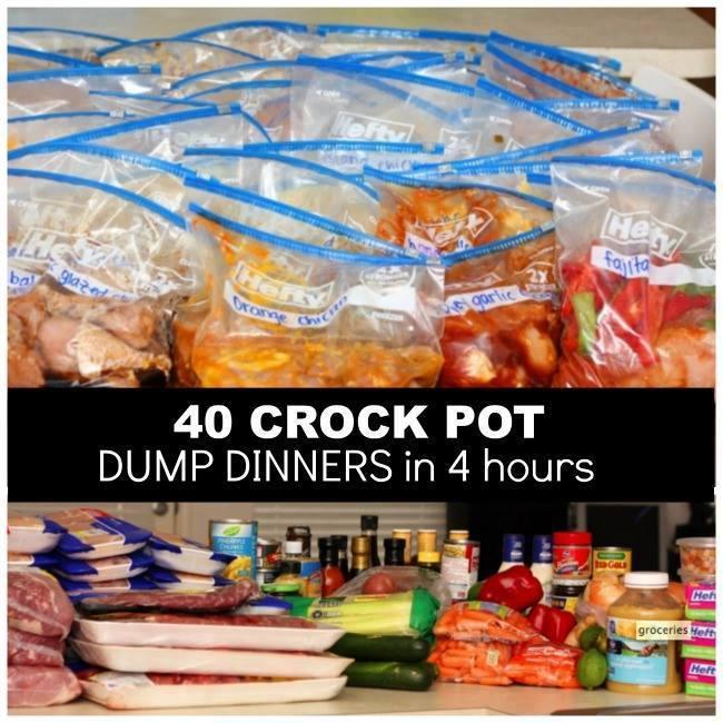 40 Crock Pot Dump Dinners in 4 Hours