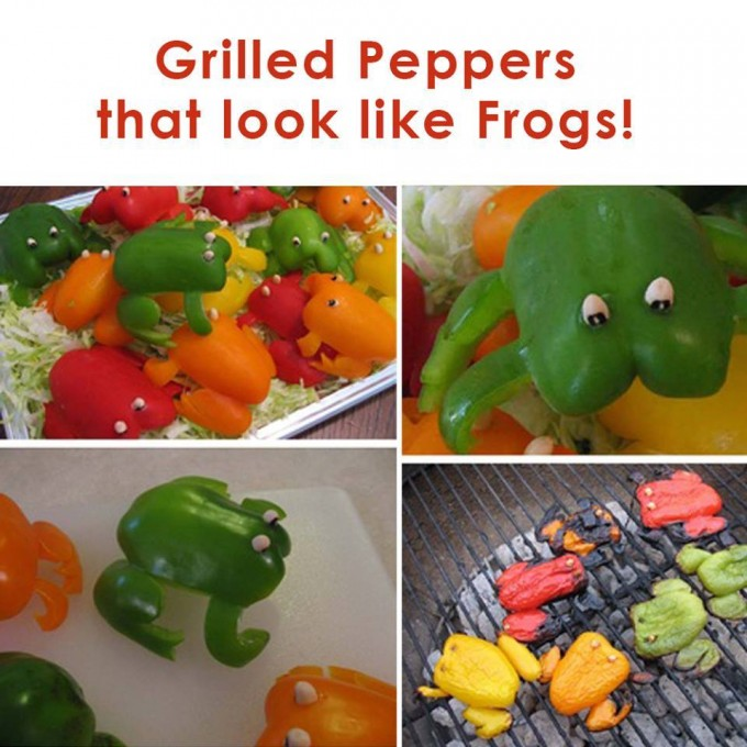 Grilled Frog Peppers