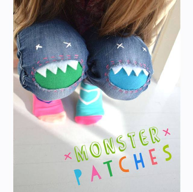 DIY Monster Patches for Jeans